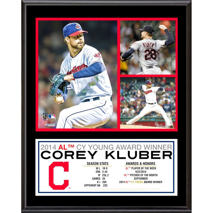 "Corey Kluber Cleveland Indians Fanatics Authentic 12"" x 15"" 2014 American League Cy Young Award Sublimated Plaque - $39.99"
