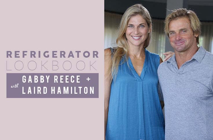 IRL power couple Gabrielle Reece and Laird Hamilton fuel up with raw dairy, sugar-free fruits (yes, really), and lots of gut-healthy shots.