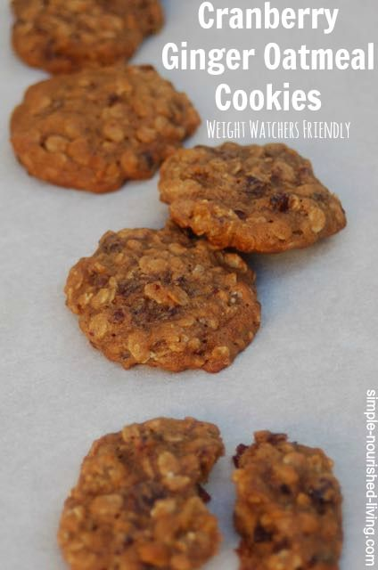 Weight Watchers Low Fat Chewy Cranberry Ginger Oatmeal Cookies. My ...