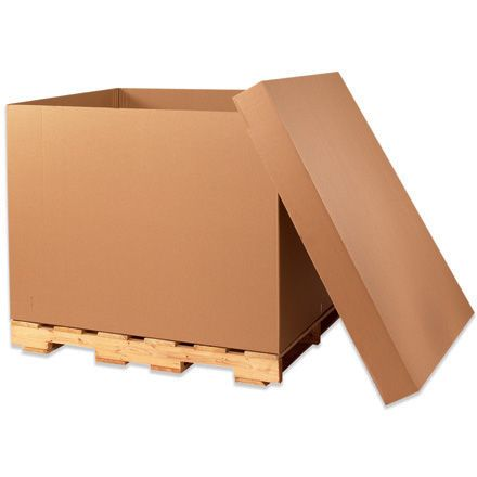 """48"""" x 40"""" x 36"""" Double Wall Gaylord Bottom corrugated boxes.  Perfect for bulky, irregular shaped items #corrugatedboxes #packing #saraglove"""