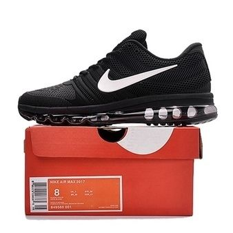 Nike Air Max 2017 Men Black White Logo Running Shoes [airmax2017-062] - $66.99 : | nike shoes | Scoop.it