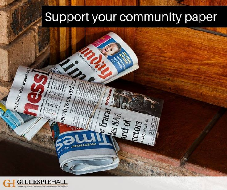 Are you a fan of local news? Support your community paper - It serves a niche and may be more willing to run your story idea…