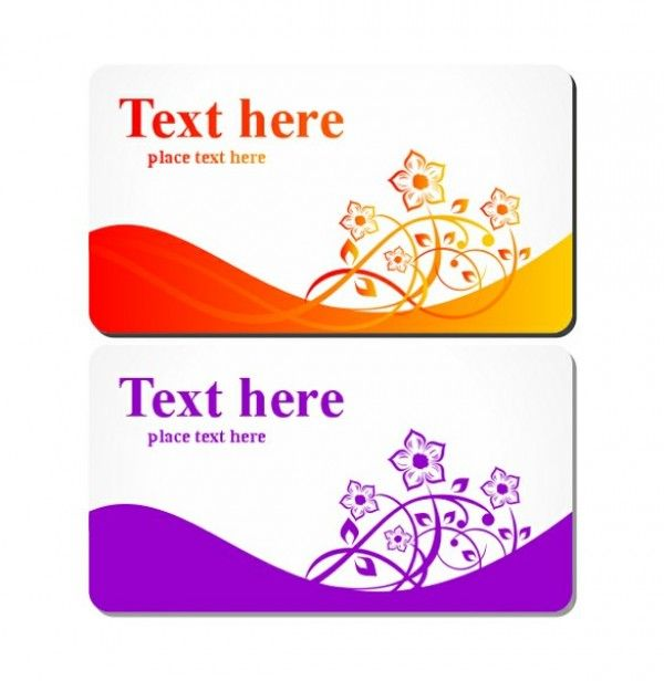 Floral Business or Gift Card Templates Set -    wwwwelovesolo - gift card templates