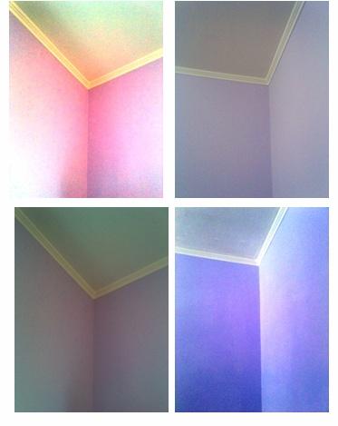 lavori in corso nella mia camera da letto ... colore della vernice lilla ...  work in progress in my bedroom...paint color lilac...