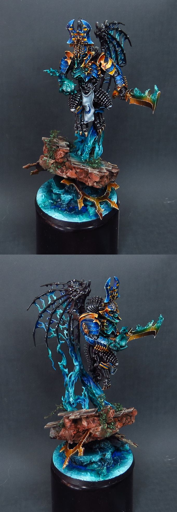 Morghast Archai converted to CSM Thousand Sons Daemon Prince vol 2