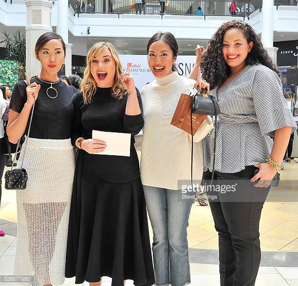 Chriselle Lim Hillary Kerr Anh Sundstrom and Tanesha Awasthi attend the Westfield x Who What Wear Presents Boss Notes at Westfield Valley Fair at...