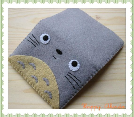 Totoro My Neighbour felt wallet by HappyAkindo on Etsy, $14.00