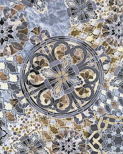 Timeless Treasures - Mosaic C8610-Natural Mandala