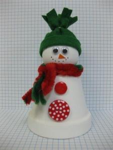 Another flowerpot snowman