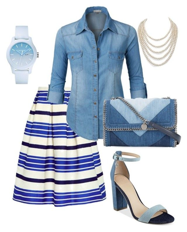 Untitled #13 by mylittlestar on Polyvore featuring polyvore fashion style LE3NO Paul & Joe Sister GUESS STELLA McCARTNEY Lacoste DaVonna clothing