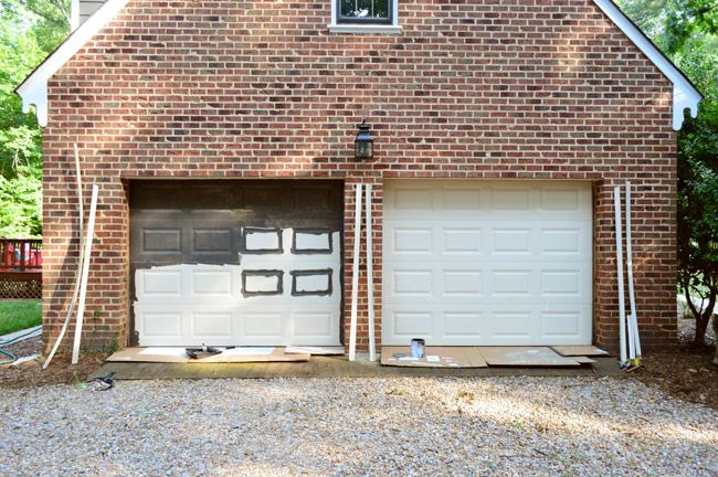 Young House Love | Painting Our Garage Doors A Richer, Deeper Color | http://www.younghouselove.com