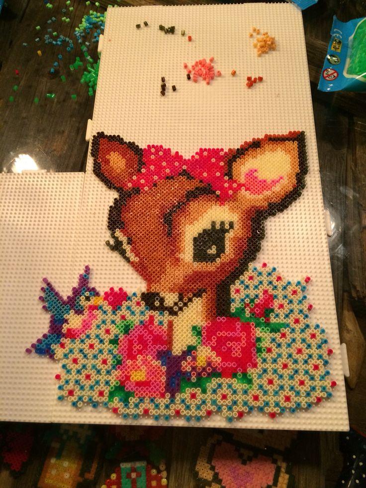 Bambi fawn hama perler beads