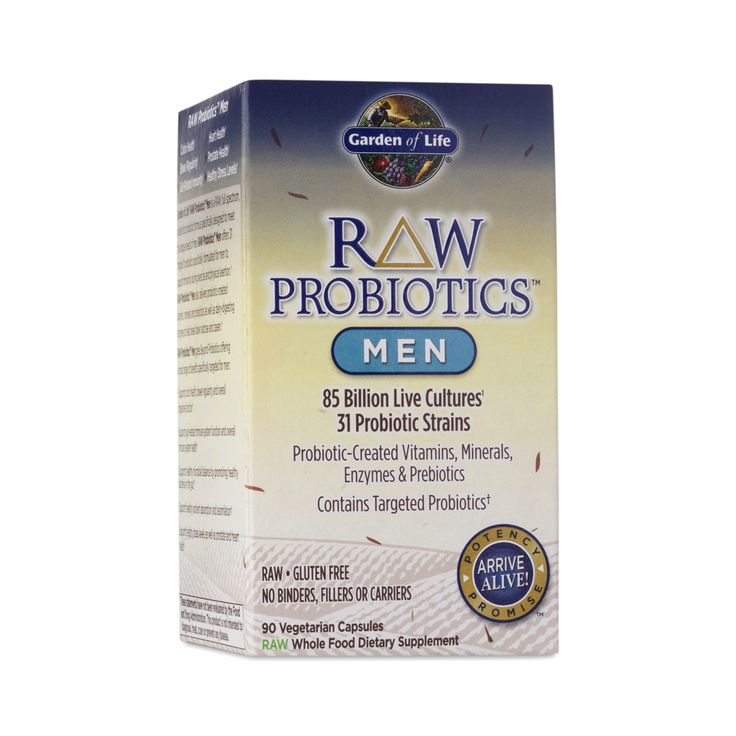 Formulated for men, this digestive health supplement contains 32 live probiotic strains to optimize a male's system for health and wellness.