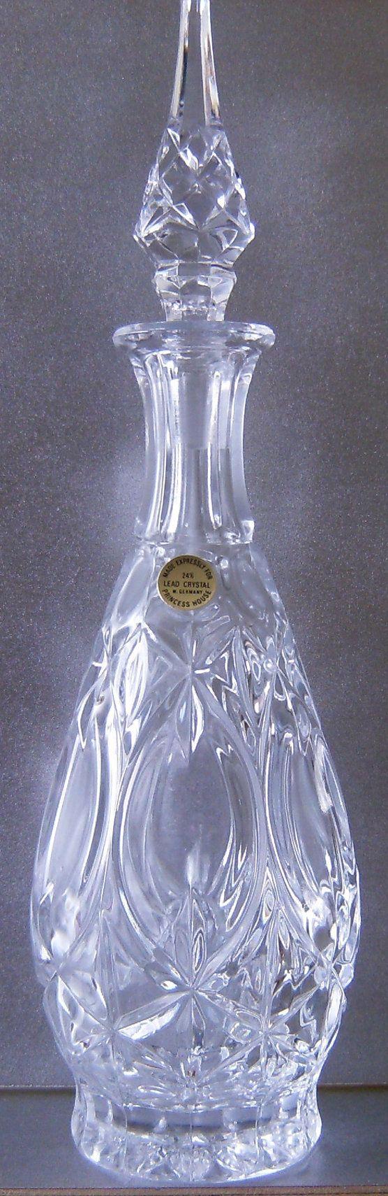 Princess House Wine Liquor Decanter Of 24 Lead By Bentleyswonders 125 00 Vtg Princess House