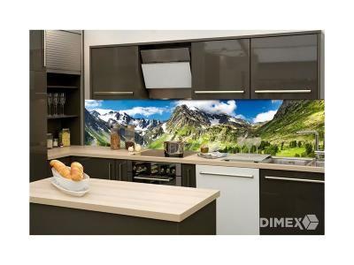 Dimex fototapety do kuchyne, samolepiace - Hory 60 x 260 cm