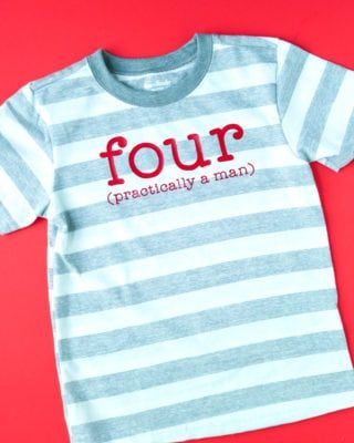 Birthday Shirt For 4 Year Old Boy That You Can Make With Your Cricut