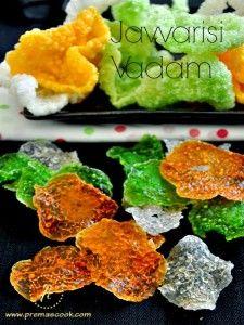 Easy Javvarisi Vadam – Sago Vathal Recipe