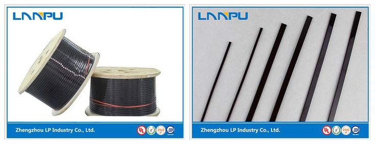 enameled flat aluminum wire from different points.