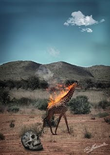 MarcowiczVisions: BURNING GIRAFFE