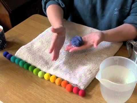 youtube: how to make felt balls.