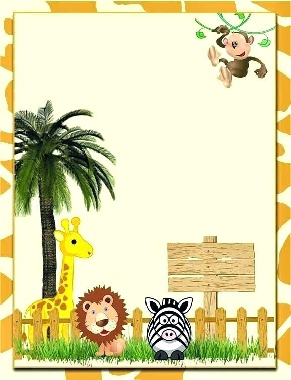 Jungle Theme Birthday Invitations Free Printable Idea Zoo Party Invitation Template For Best Ideas On