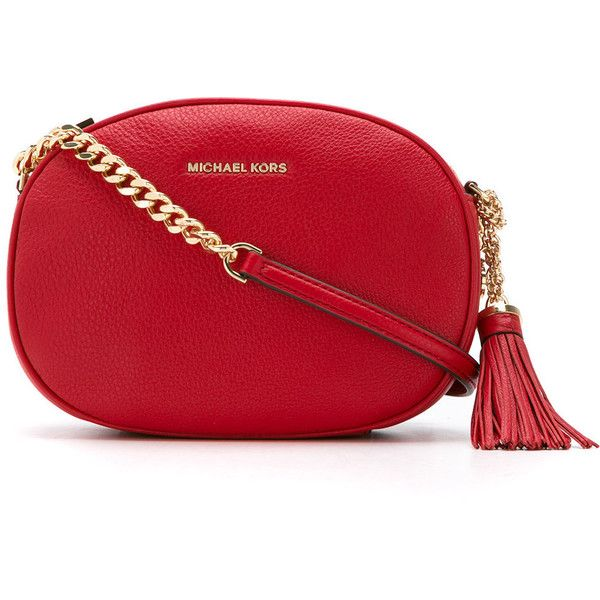 Michael Michael Kors MD MESSENGER (4.320 CZK) ❤ liked on Polyvore featuring bags, messenger bags, red, leather messenger bag, leather bags, real leather bags and red messenger bag