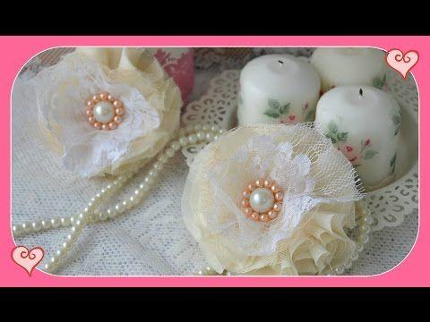 Como fazer flores de tecidos estilo vintage - YouTube
