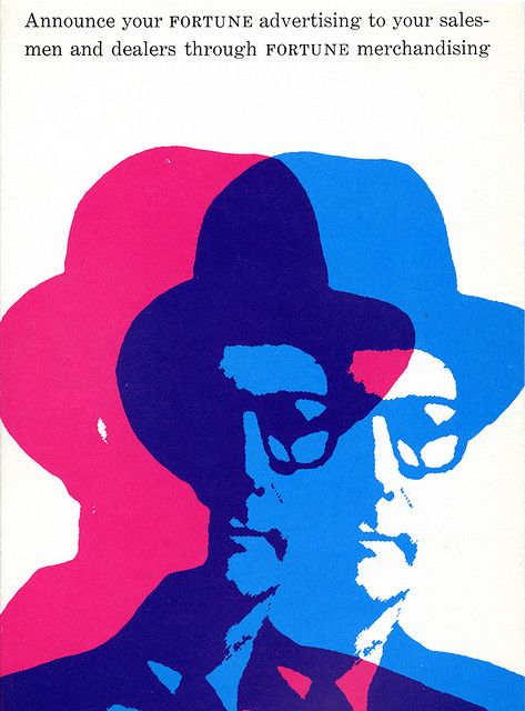 Alan Fletcher - Fortune Magazine promotional blotter - November 1958 | Flickr - Photo Sharing!