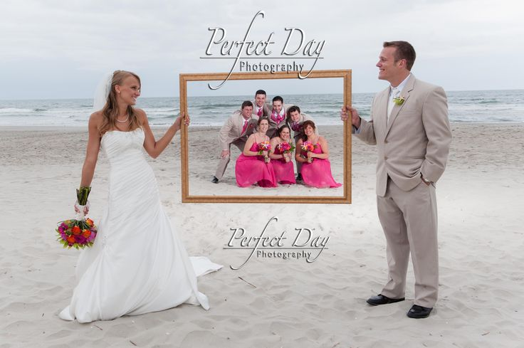 Tejhra and Sam: The Whole Gang framed to last a lifetime! Bridal Party Frame Picture Bridal Party Picture Avalon, NJ Beach Weddings Golden Inn in Avalon, NJ