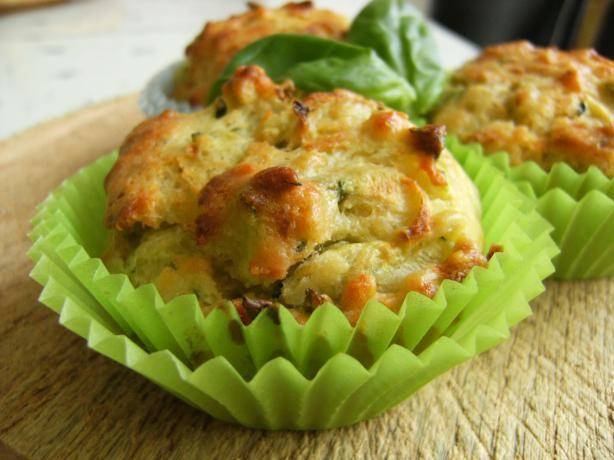 Zucchini Basil Muffins. Photo by Lalaloula