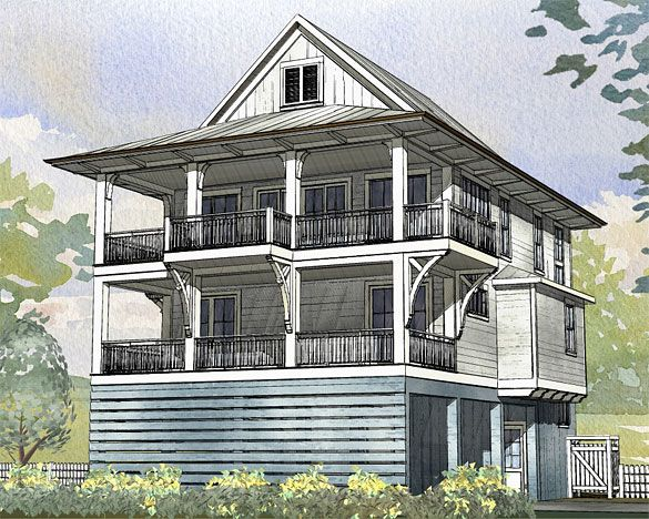 156 best images about beach house narrow lot plans on Coastal home plans narrow lots