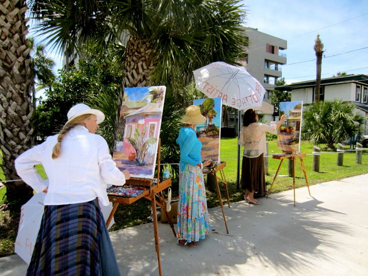 Painting en plein air with art partners Mary Rose and Violetta (The Plein Aire Cottage Artists- 3 Member/3 Friends/1 Vision