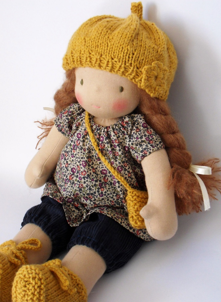 16 inch doll by Elodie of France. Waldorf Doll