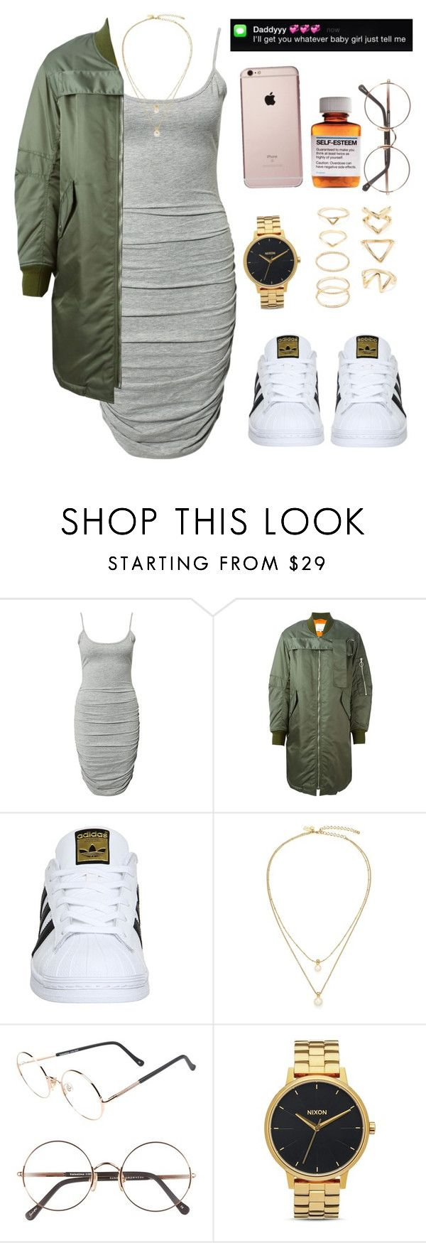 """Needed Me x Rihanna"" by versaceshawty ❤ liked on Polyvore featuring Notion 1.3, 3.1 Phillip Lim, adidas, Kate Spade, Sunday Somewhere, Børn, Nixon and Forever 21"