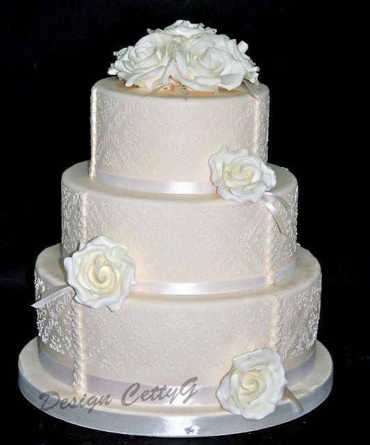 Le torte decorate di CettyG...: Torta Nuziale...