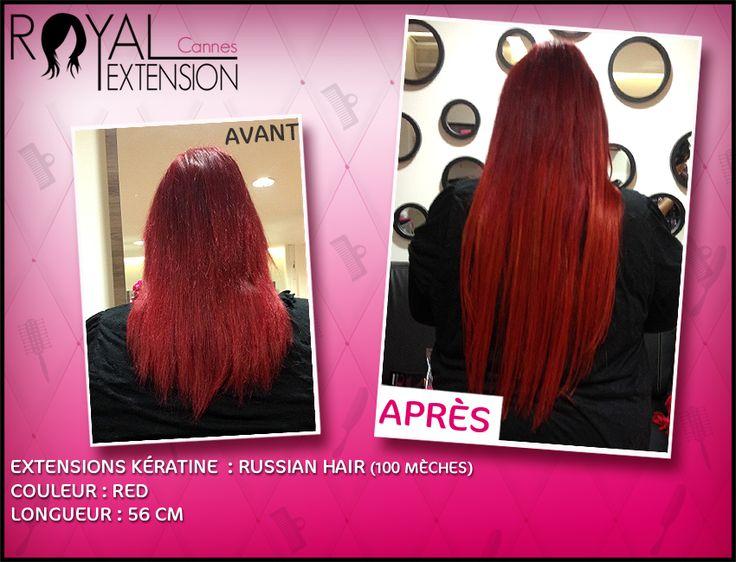 Extensions cheveux Kératine Russian Hair colorées en rouge :http://www.royalextension.com/fr/catalogue/produit/pack-de-60-extensions-de-cheveux-keratine----meches-de-1g-russian-hair-----100--naturels.31-315.html