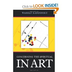 """4] This book is  """"The Spiritual in Art"""". It's really Kandinsky's artistic statement or manifesto. As an artist moves further away from painting the """"things"""" in this world, he may enter the internal world of the subconscious and paint in an abstract style, trying to express purely that which lies within himself. For Alex, a landscape painter, that will be a new twist as he is greatly focused on the world outside himself.   http://maryemartintrilogies.com/"""