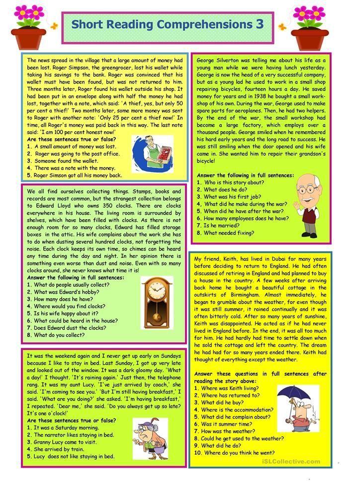 Klassenzimmer Kurze Leseverstaendnisse Kurze Leseverständnisse Englischunterricht Klassenzimmer Englische Sprache