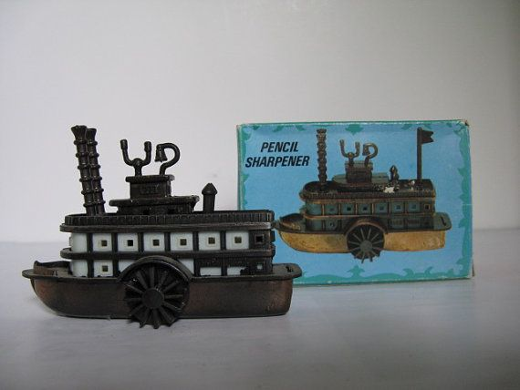 Die Cast Pencil Sharpener Paddle Wheel Boat w/Box by PRMSALESLLC