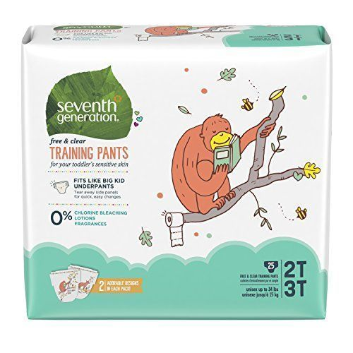 Seventh Generation Baby & Toddler Training Pants, Free & Clear, Medium Size 2T-3T up to 35lbs, 25ct - You're making moves, kid. Seventh Generation Free & Clear Training Pants are designed to make potty training easier. Our pull on training pants fit like big kid underpants, but with an absorbent core to keep your toddler protected and dry – just in case. Our Free & Clear Training Pants are fragra... #babytrainingpants