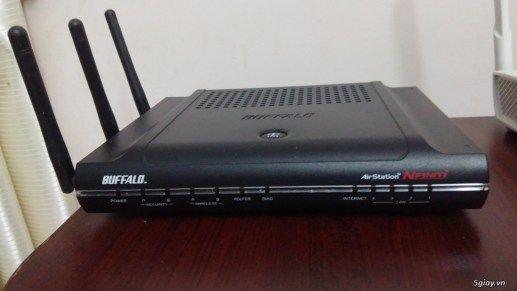Router wifi WZR-AGL300NH 3 râu/4 Lan gigabit cực mạnh giá tốt