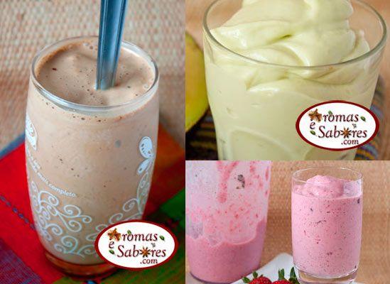 10 + receitas de milk shakes