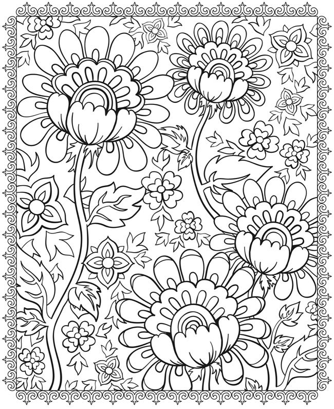 floral designs coloring page #free #printable #kids #diy #crafts