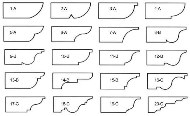 Typical Corbel Patterns available from Lumber Yards These are the patterns that are typically available from most lumber yards.  These cuts can be made on the end of larger beams such as a 4×6…