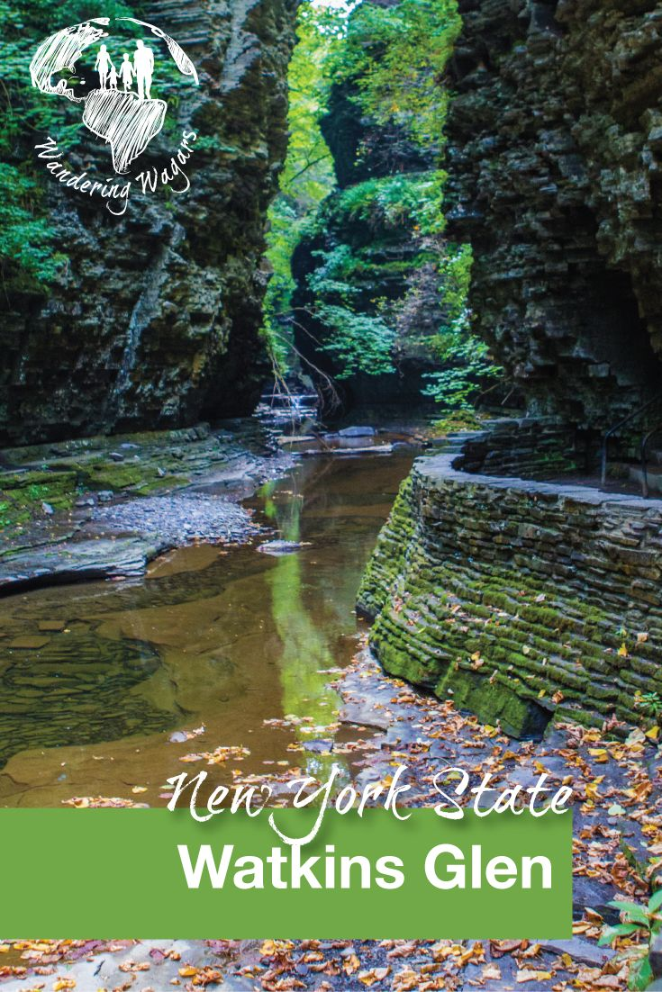Watkins Glen State Park in the Finger Lakes region of New York State offers easy day hikes and is a great place for a family trip.