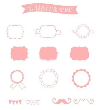 Etiquetas en Color Rosa para Imprimir Gratis.