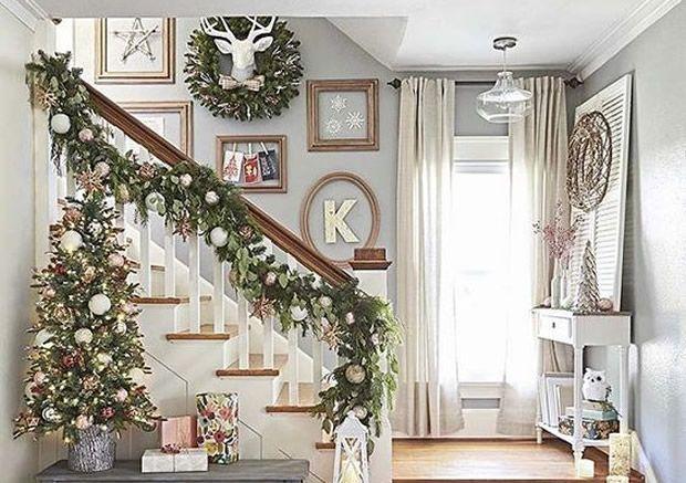 decoração de natal em tons neutros