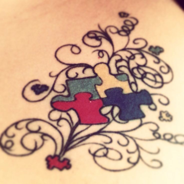 love my autism tattoo❤️
