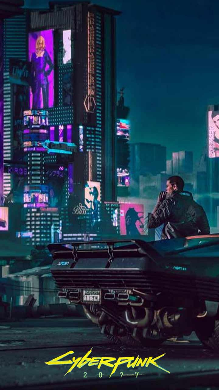 Cyberpunk 2077 Wallpaper Hd Phone Backgrounds Night City Game Logo Art Poster On Iphone Android In 2020 Cyberpunk 2077 Cyberpunk City Cyberpunk Aesthetic