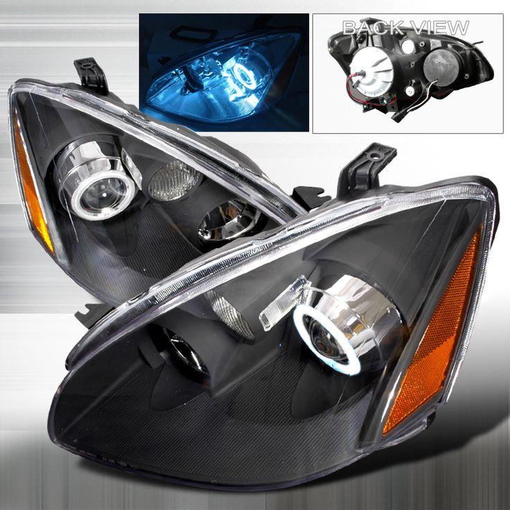 Headlights For 2006 Nissan Altima: Nissan Altima 2002-2004 Black Ccfl Halo Projector